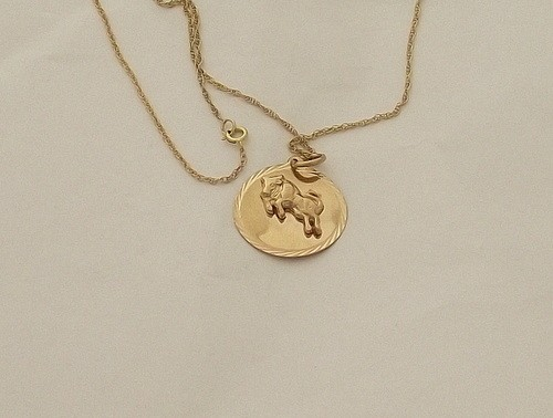 ecb6d7bde56615 Click photo to enlarge. Product Code: C25; Availability: Out Of Stock;  Tags: gold, pendant, Taurus, zodiac ...